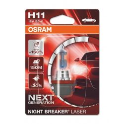 Osram NB Laser NEXT Generation H11 12V 55W +150% autó izzó bliszter (1db-os)