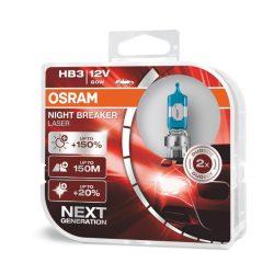Osram NB Laser NEXT Generation HB3 12V 60W +150% autó izzó - duó csomag