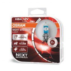 Osram NB Laser NEXT Generation HB4 12V 51W +150% autó izzó - duó csomag