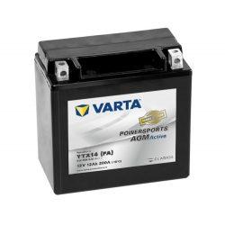 Varta Powersports AGM Active YTX14-4 / YTX14-BS 12V 12Ah akkumulátor - 512909