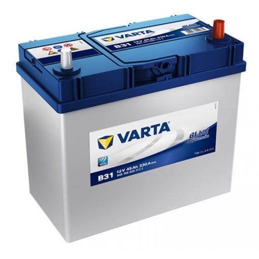Varta Blue Dynamic 12V 45Ah 330A Jobb+ ázsiai autó akkumulátor (B31) - 545155