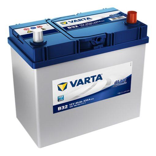 Varta Blue Dynamic 12V 45Ah 330A Jobb+ ázsiai autó akkumulátor (B32) - 545156