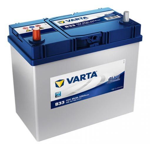 Varta Blue Dynamic 12V 45Ah 330A Bal+ ázsiai autó akkumulátor (B33) - 545157