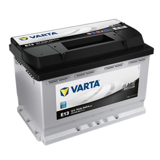 Varta Black Dynamic 12V 70Ah 640A Jobb+ autó akkumulátor (E13) - 570409