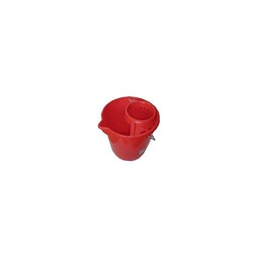 Tegee Műanyag vödör kicsavaróval (piros) 12 literes