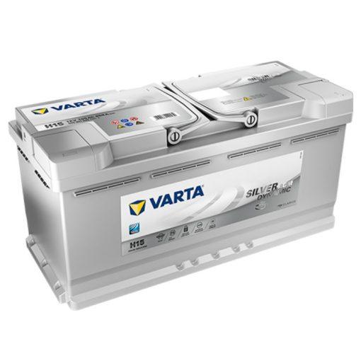 Varta Silver Dynamic AGM 105Ah 950A Jobb+ AGM autó akkumulátor (H15) - 605901