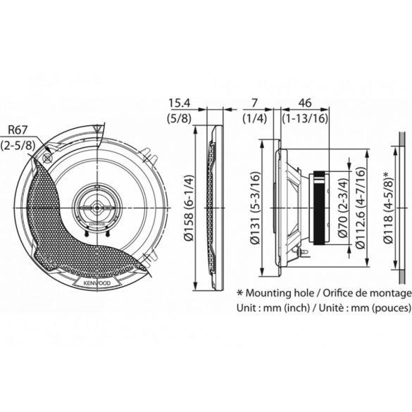 Kenwood-KFC-PS1396-2utas-hangszoro-szett