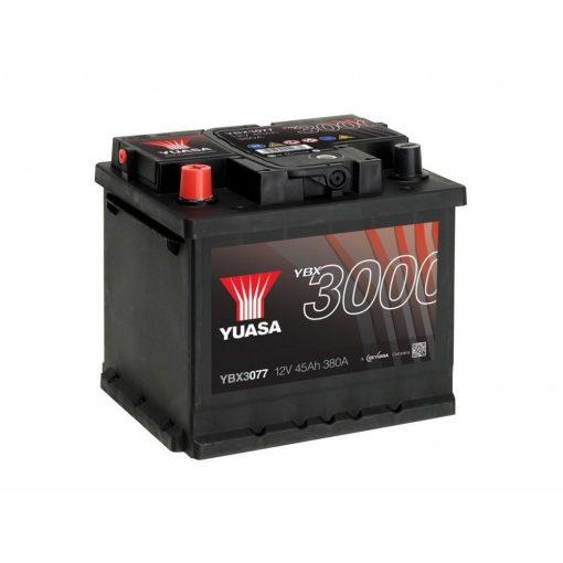 yuasa-ybx3077-12v-45Ah-380A-auto-akkumulator