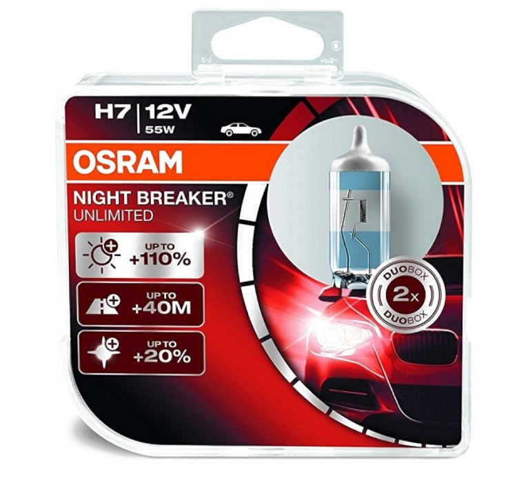 Osram Night Breaker Unlimited H7 12V 55W +110%-os izzó